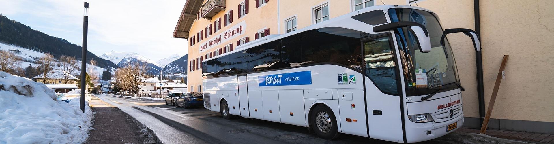 Opstapplaatsen busreis Estivant